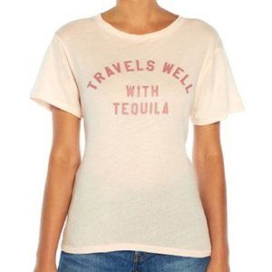 Wildfox Travels Well With Tequila Tee Size Med NEW